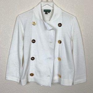 NWOT Ralph Lauren White Nautical Sweater Capelet
